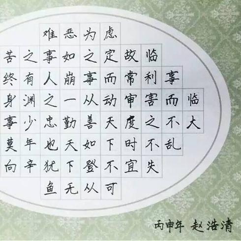 赵汝飞练字-获奖作品