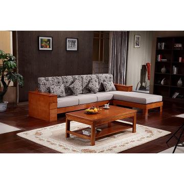 新款实木沙发 橡木木骨架木头木质沙发床现代中式客厅家具 批发