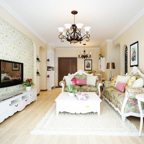 法欧庄园纳米集成墙饰客厅样式