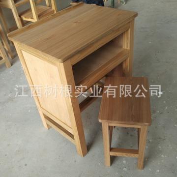 木质课桌椅 实木课桌 学校实木课桌 厂家直销 单人课桌椅