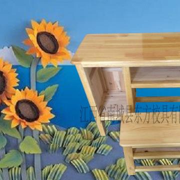 实木单人位课桌椅组合 学生书桌 实木书桌 培训班课桌椅订做批发