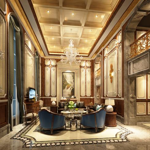 亿安居集成墙板-会客厅效果