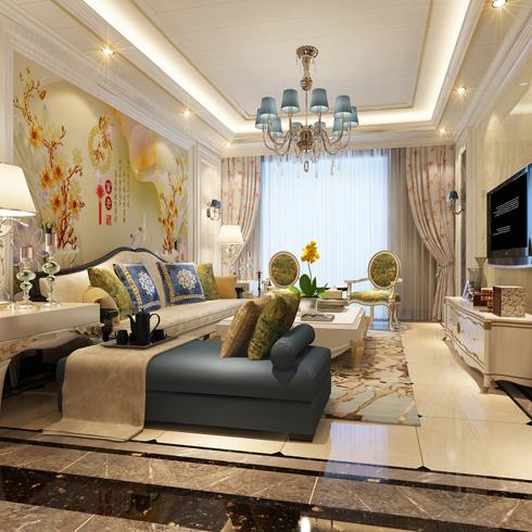 亿安居集成墙板-客厅效果