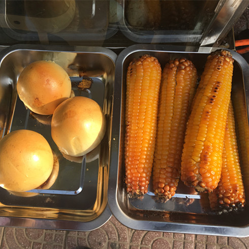 桔瓣烤玉米