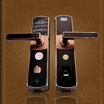 厂家批发开运歆品牌顶配指纹门锁 人性化设计 菜单显示 语音提示