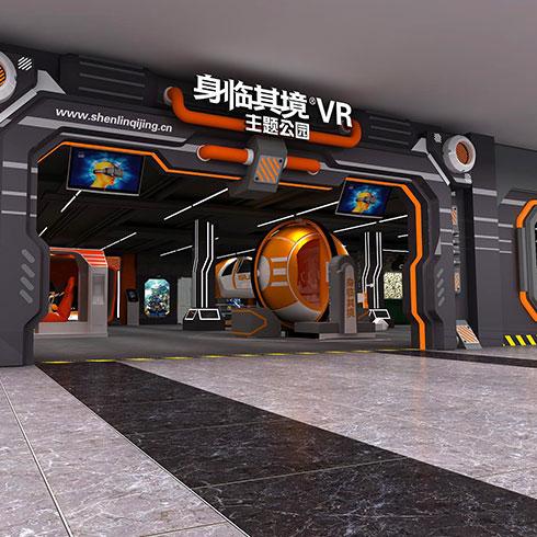 身临其境VR主题公园-游戏大厅正门