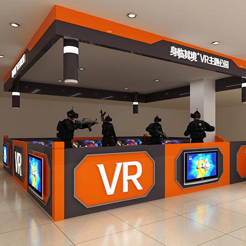 身临其境VR主题公园-游戏大厅店面效果图