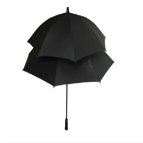 黑色子母伞晴雨伞