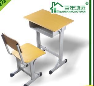 厂家直销批发中小学校学生课桌椅凳培训班桌椅多层板学习桌椅凳