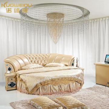 婚庆新款欧式床上用品圆床四件套纯棉加厚床罩床裙式