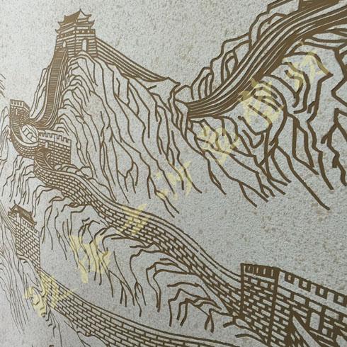 玖唐士沙画壁材长城图