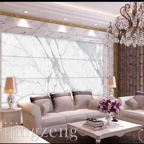天朝瓷砖大理石背景墙欧式简约客厅电视墙砖3d微晶石灰鱼肚白