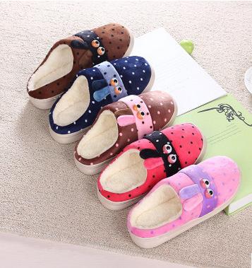新款欧式风格男女情侣加绒棉拖鞋家居舒适防滑耐磨爆款拖鞋