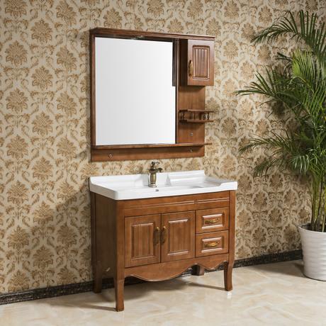 美式浴室柜特价格浴室洗衣柜组合柜欧式浴室柜简欧款式仿古浴室柜