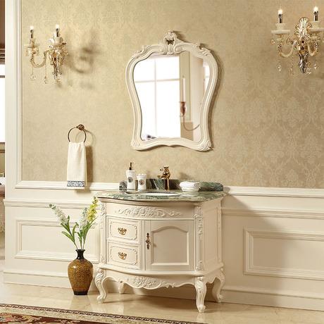 欧式浴室柜 铁椿木落地大理石洗手洗脸台椿木卫浴柜 转轴卫浴洁具