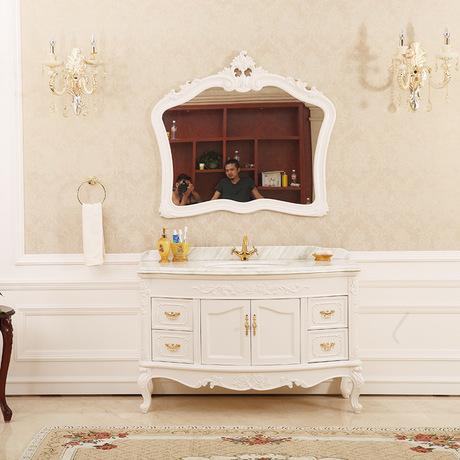 新款欧式浴室柜 铁椿木转轴卫浴柜 落地式卫浴洁具来样定制