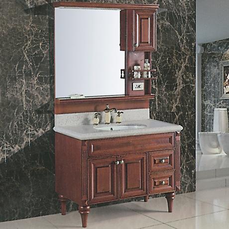 浴室柜落地柜 欧式大理石台面卫浴柜
