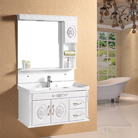 浴室柜欧式田园卫生间洗脸盆组合浴室卫浴柜洗手池台