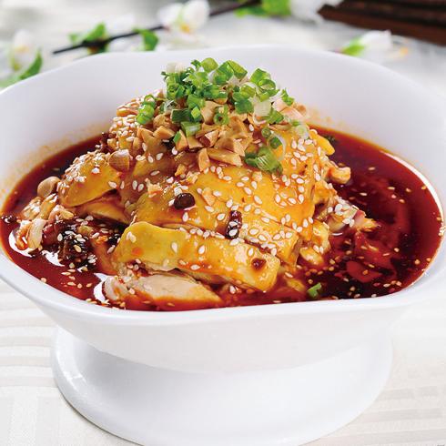围啃椒麻鸡-诱人美食