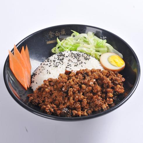 食面族面馆快餐-香菇肉沫饭