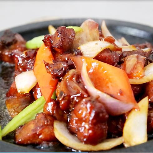 福锅满堂石锅主题餐厅-石锅红烧肉