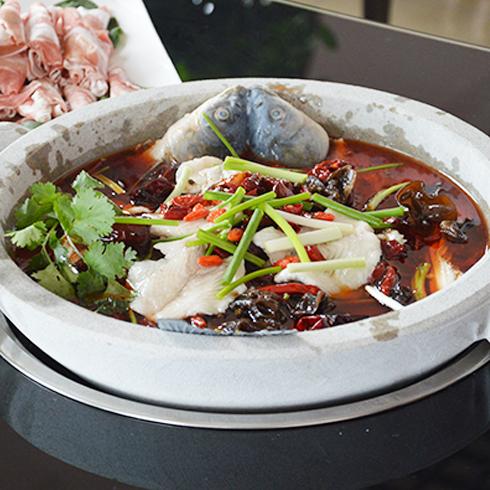 福锅满堂石锅主题餐厅-石头鱼火锅