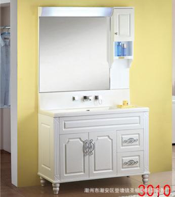 柏扉步整体卫浴浴室柜盆柜连体柜现代落地柜欧式带灯微晶石洗手盆图片