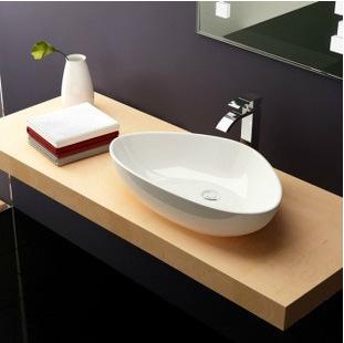 潮州陶瓷 oec艺术盆正品洗手盆 卫浴三角形台上式面盆酒店洗脸盆