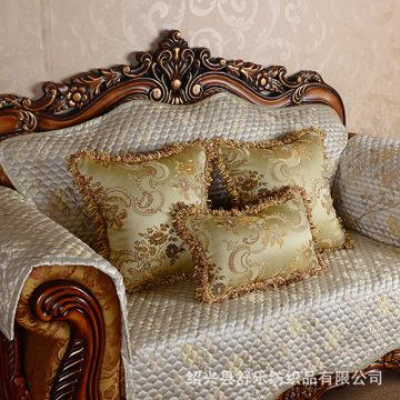 【淘宝爆款】办公沙发金色抱枕套 高档奢华欧式汽车靠垫套