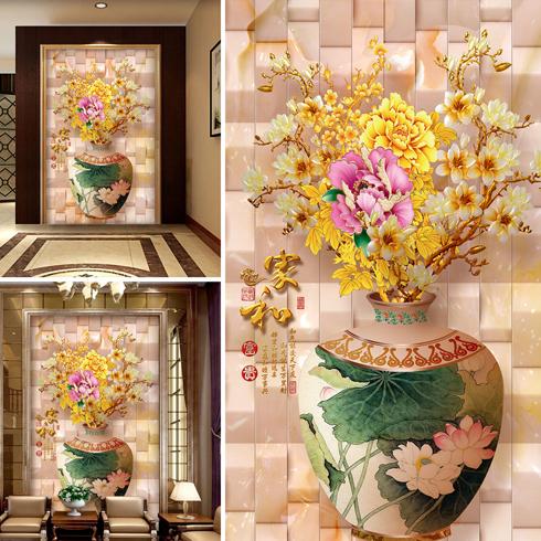 神奇金属装饰画-花瓶图样