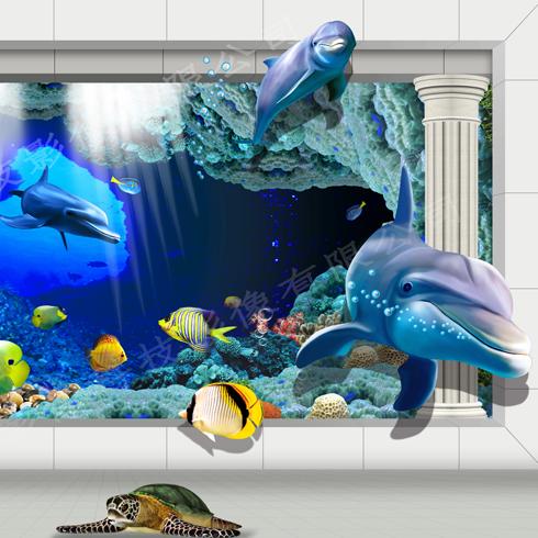 神奇金属装饰画-深海3D背景墙