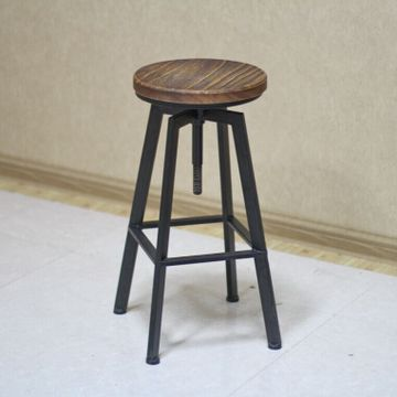 厂家直销 实木酒吧椅 实木餐椅 欧式实木椅子 升降吧台椅批发