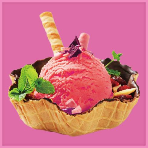 蜜源冰淇淋-草莓球冰淇淋