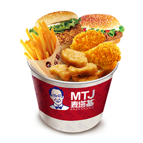 麦塔基汉堡-超值桶