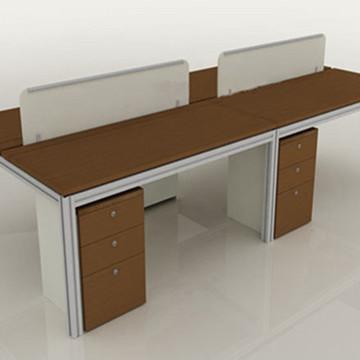 职员办公桌屏风厂家直销 公司员工办公台批发 贵阳办公家具桌椅