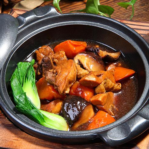 锅先森台湾卤肉饭快餐-香菇鸡