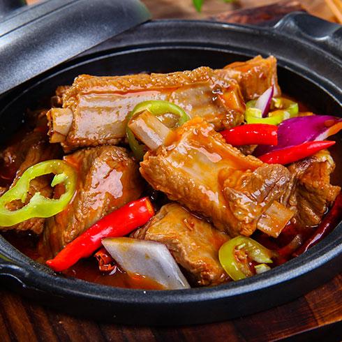 锅先森台湾卤肉饭快餐-香辣排骨