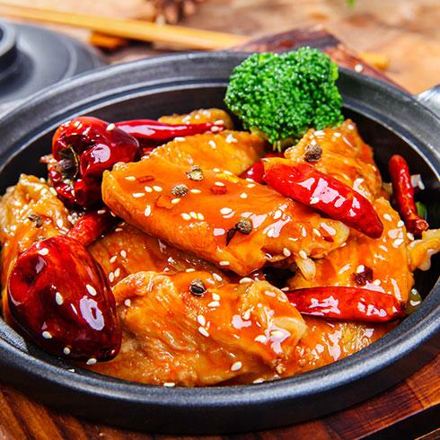 锅先森台湾卤肉饭快餐-麻辣翅中