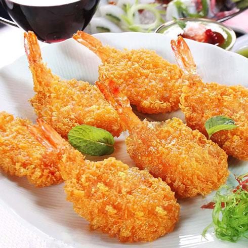 小肉肉鸡排杯-黄金蝴蝶虾