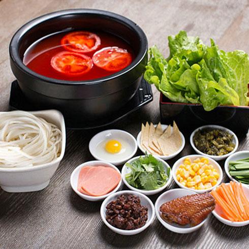 张一碗过桥米线-番茄口味汤底