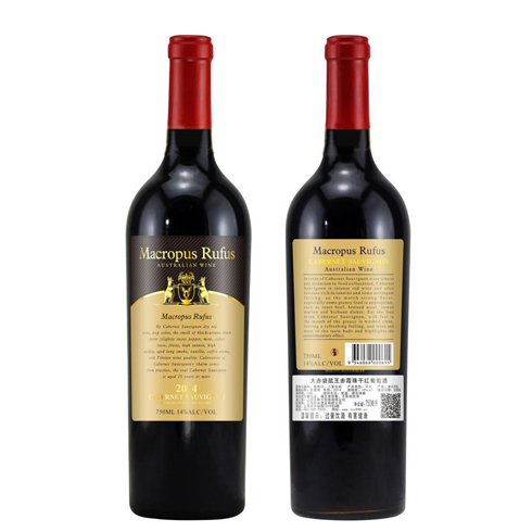 袋鼠霞珠干红葡萄酒