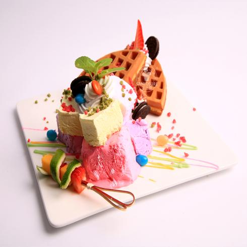 圣洛雪冰淇淋-鲜果华夫饼冰淇淋