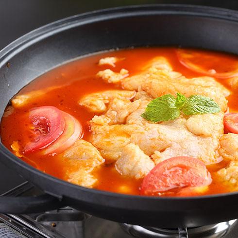 活火货火焰醉鹅-鸡蛋西红柿汤