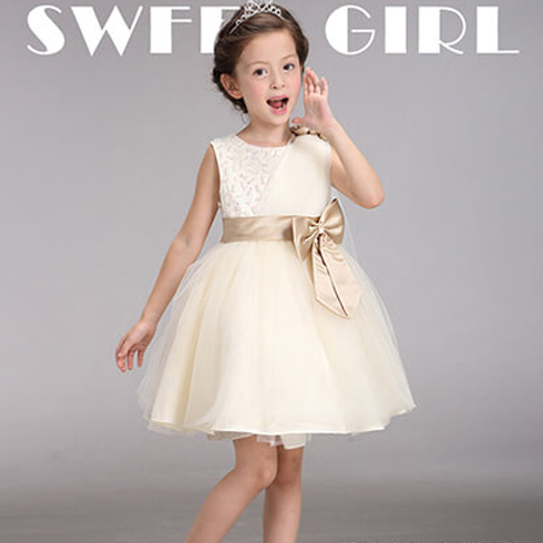 魔法叮铛童装-纯白连衣裙
