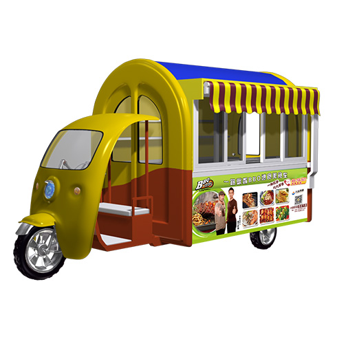 一路飘香小吃车-DF-633电动钢模房车