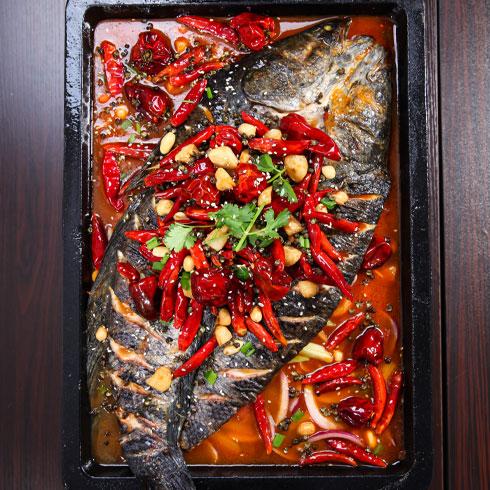 鱼的门烤鱼-香辣烤鱼