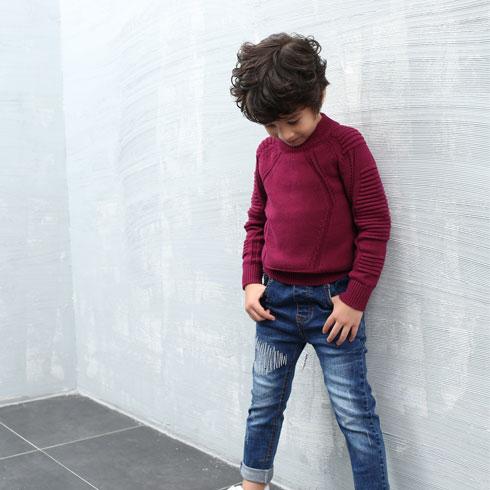 怡赏宝贝童装-红色毛衣款