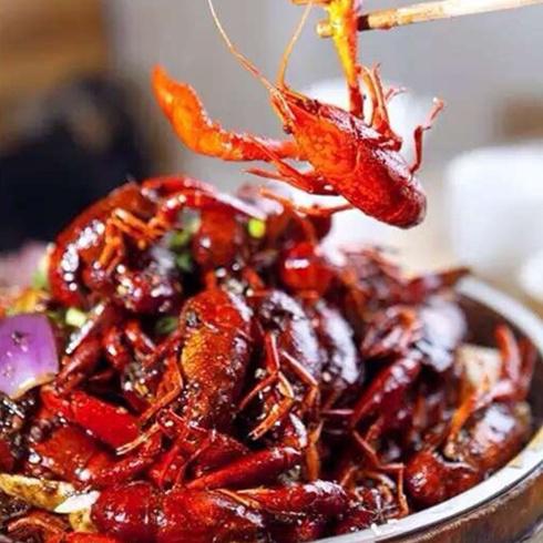 鲜嫩的油焖大虾