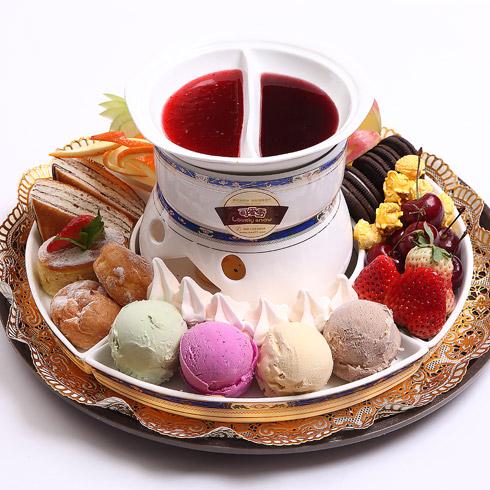 可爱雪意式冰淇淋-冰淇淋火锅