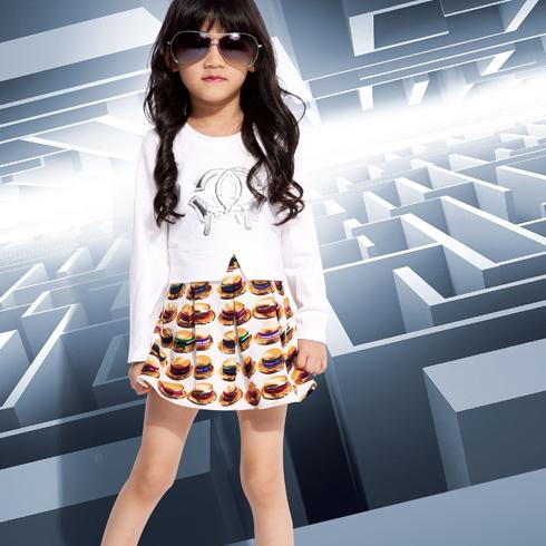 巴布兔-春季新款长袖韩派时尚短裙